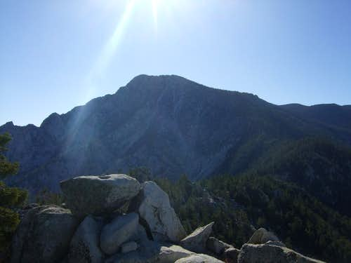Impressive North face of San Jacinto