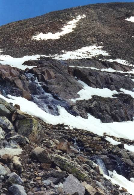 A waterfall from the snowmelt...