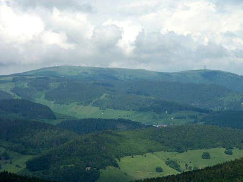 Feldberg seen from Belchen...
