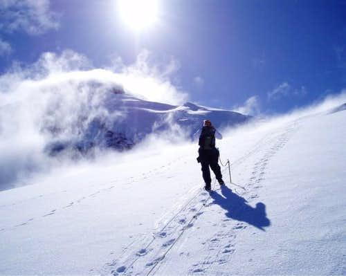 A view towards the summit,...