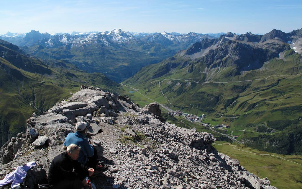 On top of the Rüfispitze