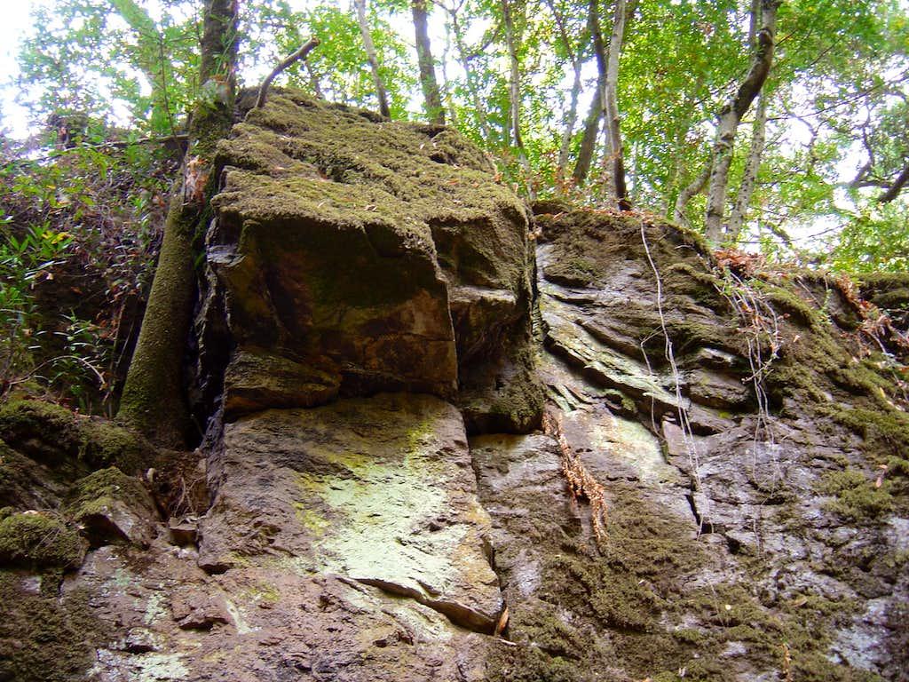 overhanging rock east of napa