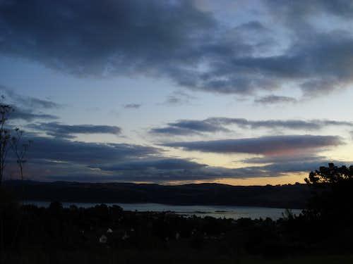 sunset on the straits