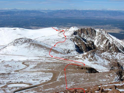 My Route to Pikes Peak