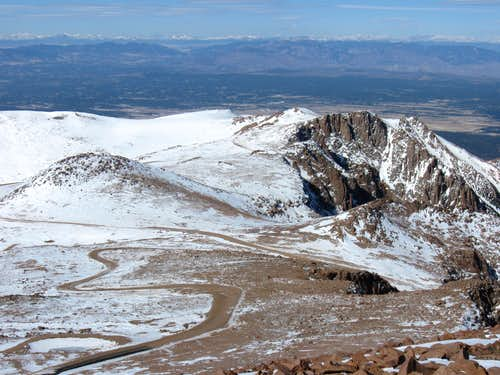 Looking NW from Pikes Peak