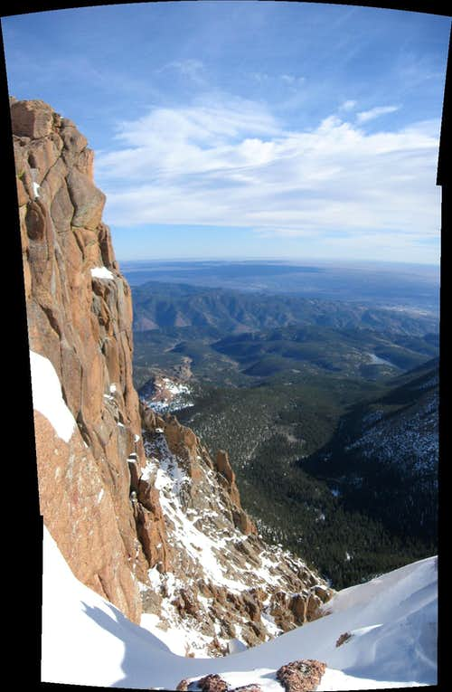 Cliffs on Pikes Peak Trail