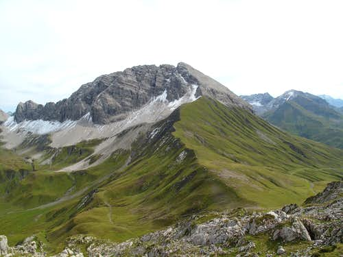 The Rüfispitze seen from the Rüfikopf