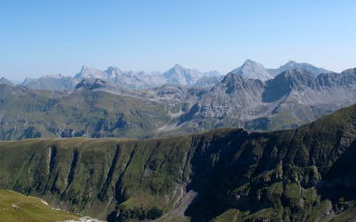 Lechtal Alps seen from below the Wösterspitze