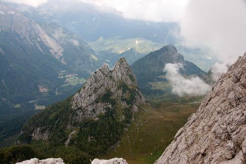 Monte Geu and part of the ascent route