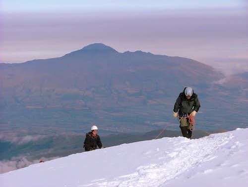 Approaching to the summit.