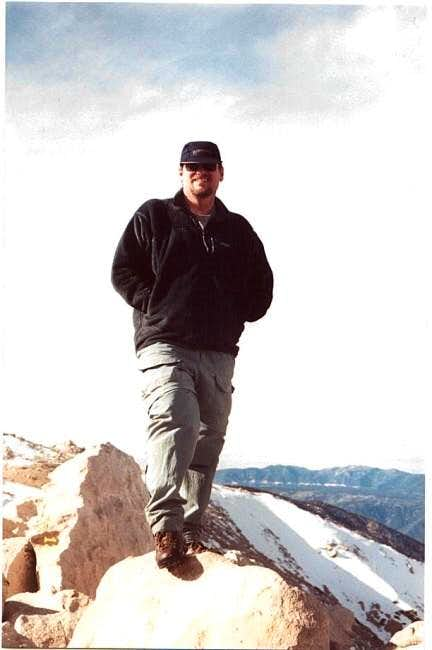 Mike Ostby on the summit of...