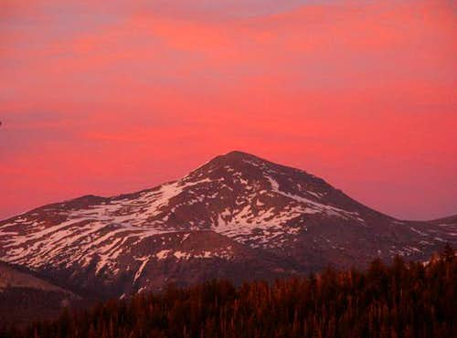 The magic hour over Mt. Dana...