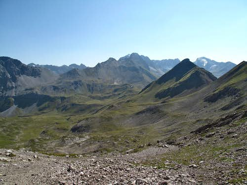 View into Tyrol from the Rauhekopfscharte