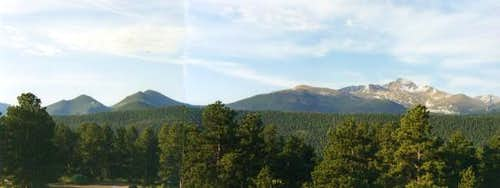 Panoramic of Estes Cone with...