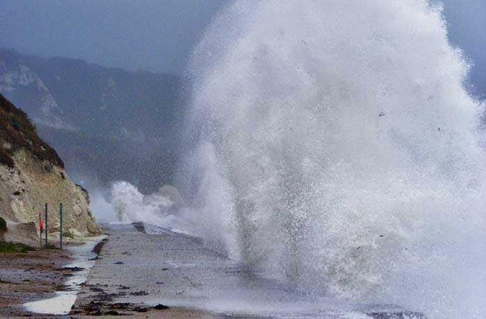 Storm in Folkestone Warren