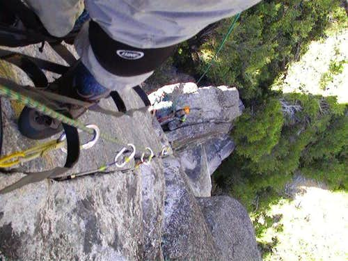Looking down from pitch 2 (...