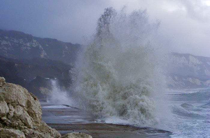 Storm in Folkestone Harbour