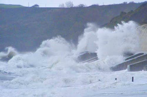 Storm in Folkestone Warren