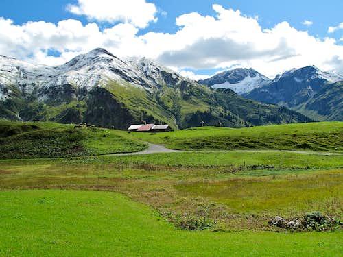 The hamlet of Bürstegg above Lech am Arlberg