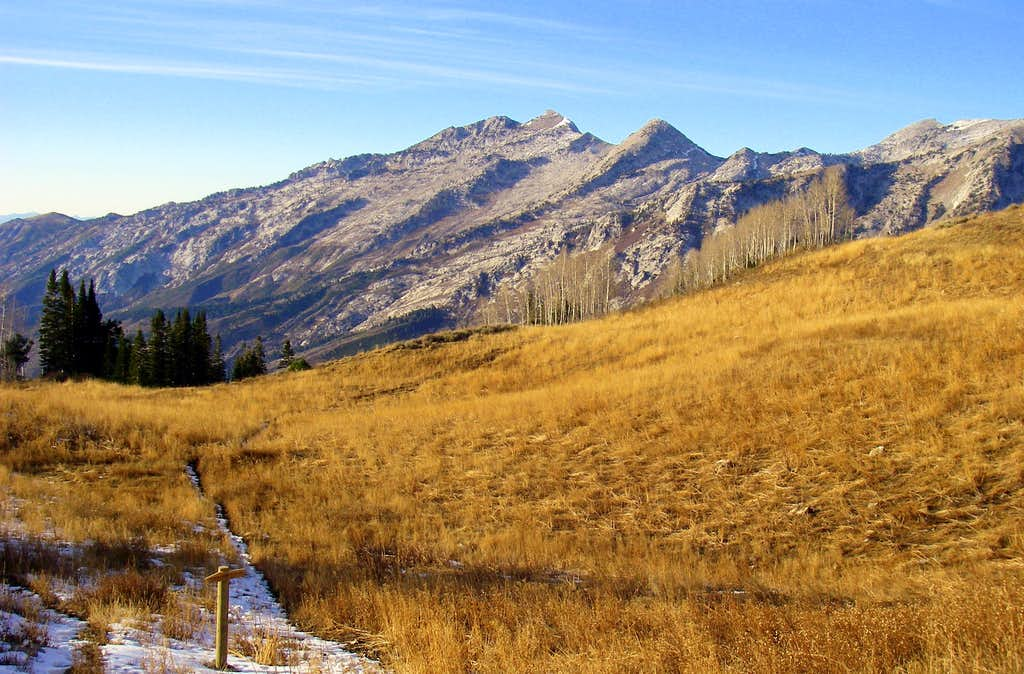 Lone Peak from the slopes of...........