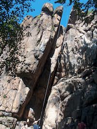 Rock-climbing in the Sokoliki rocks (Rudawy Janowickie)