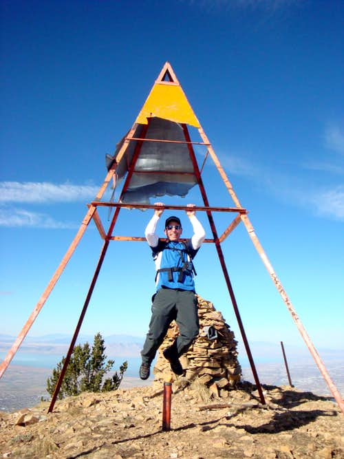 The Haggard Looking Triangulation Structure on SF Peak, Utah