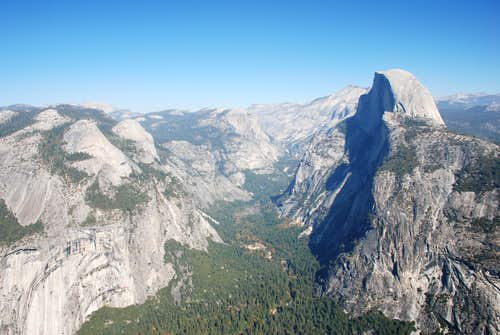 Half Dome from Glacial Point