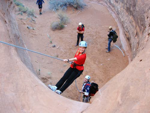 Kimberly on Rappel
