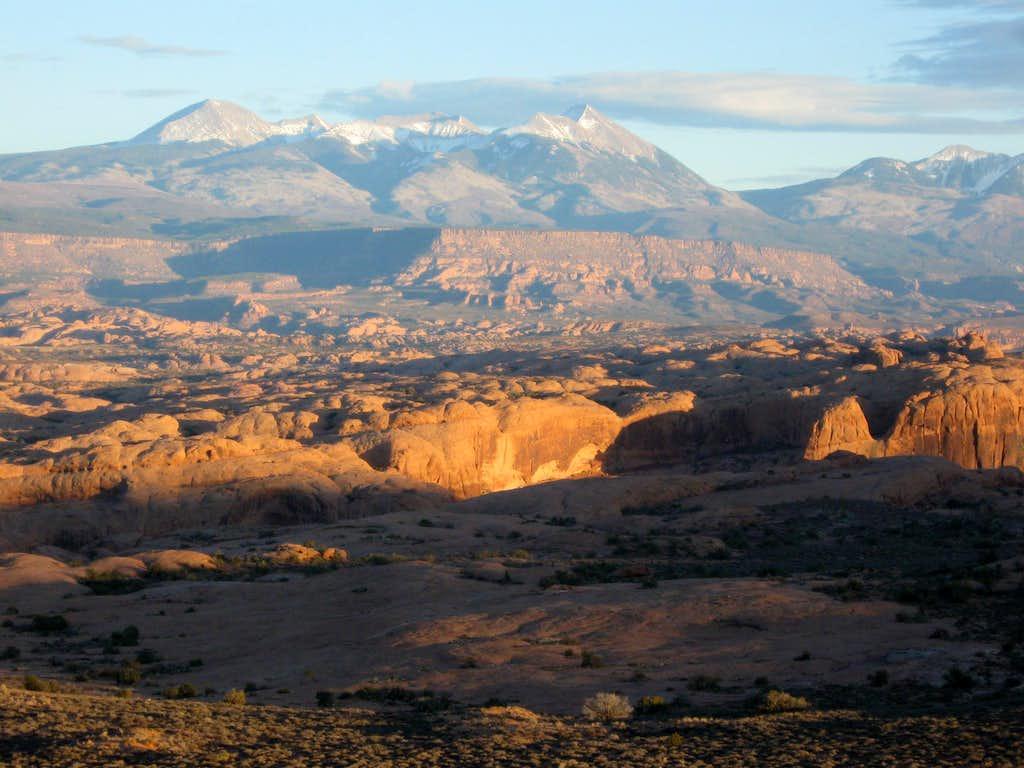 Sunset on the La Sal Mountains