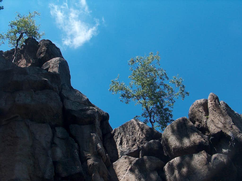 The Sokoliki rocks, famous rockclimbing spot (Rudawy Janowickie)