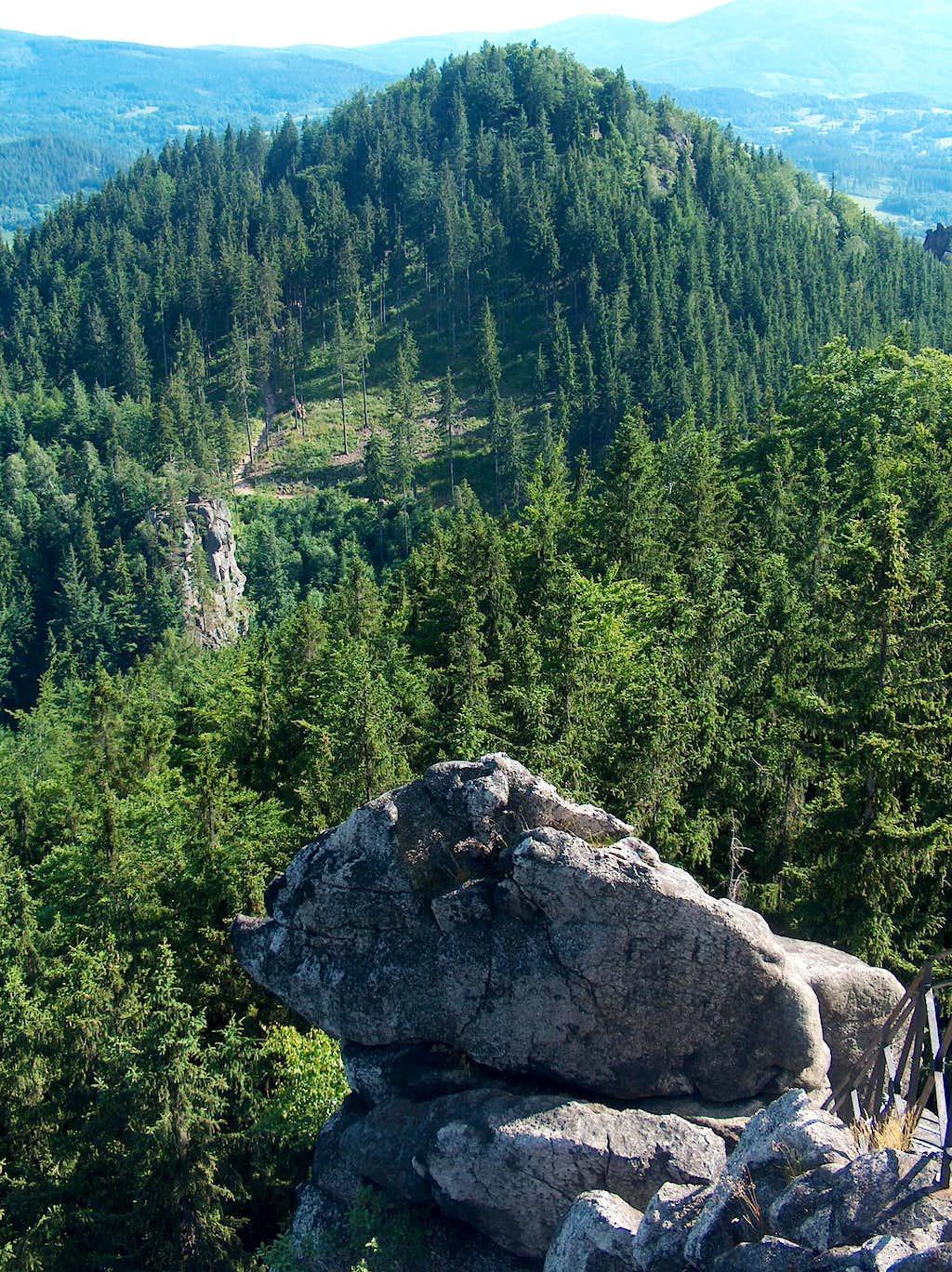 View from Krzywa Turnia to the Sokoliki hills (Rudawy Janowickie)