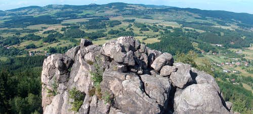 View from Krzywa Turnia on top of the Sokoliki hills