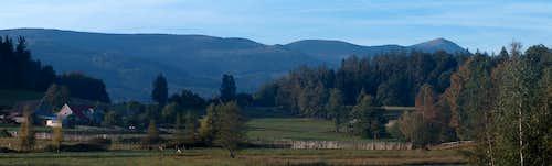 Rudawy Janowickie, panorama from Bukowiec to Karkonosze and Śnieżka