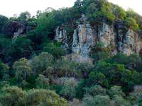 volcanic ash cliffs