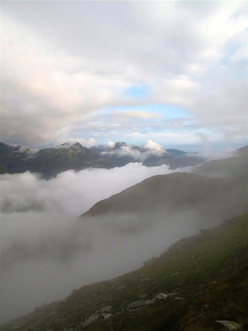 Early morning cloud just below the Mallnitzer Tauern