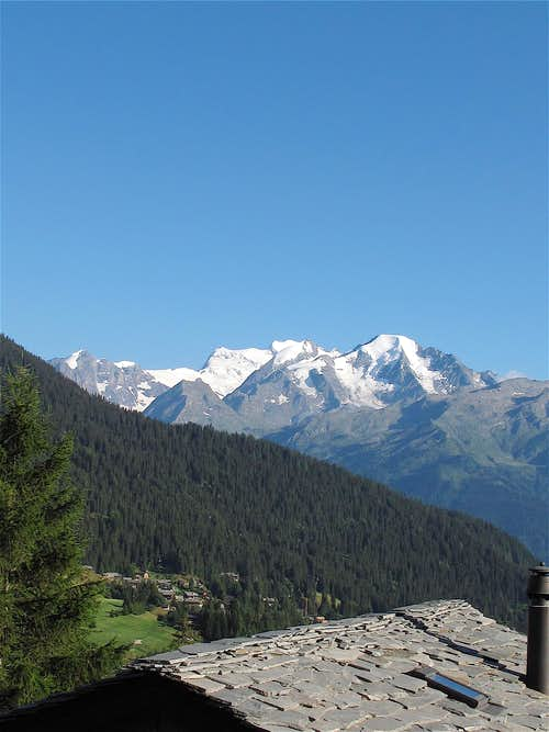 View to the Combins from just above Verbier