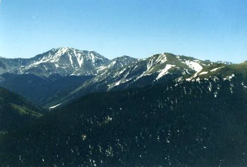 La Plata Peak is on the left...