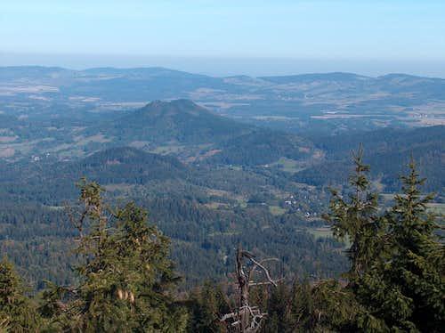 Sokoliki hills from the top of Skalnik