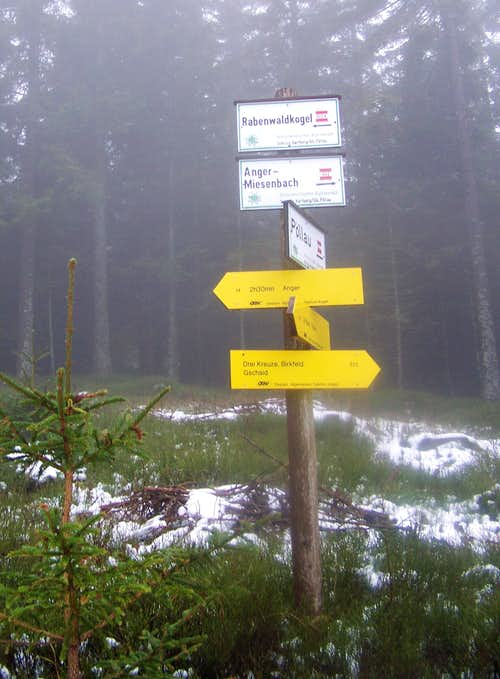 Trails are marked very accurately on Rabenwaldkogel