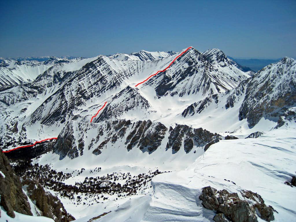 Leatherman Peak North side route