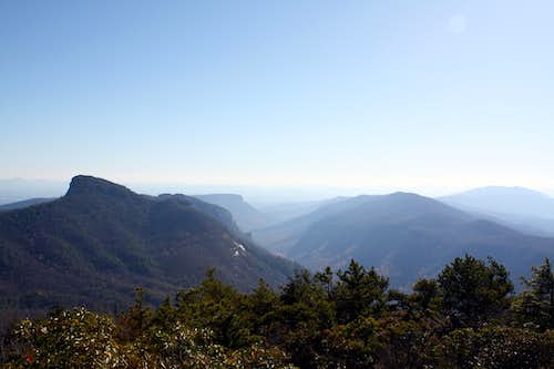 Table Rock and Linville Gorge from Hawksbill