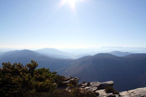 West side of Linville Gorge from Hawksbill