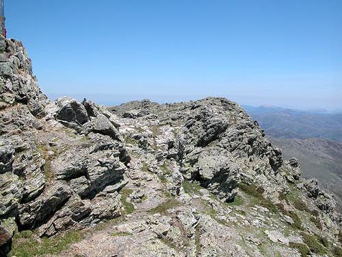 The Punta La Marmora summit...