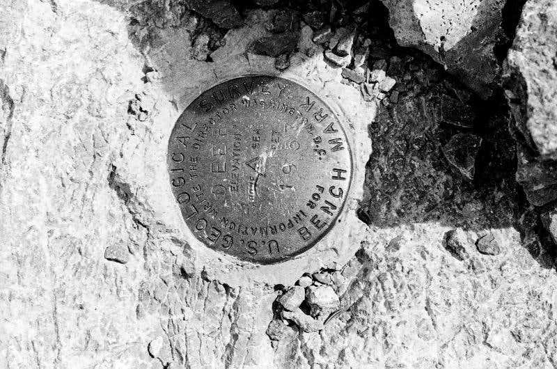 Mummy Mountain survey marker