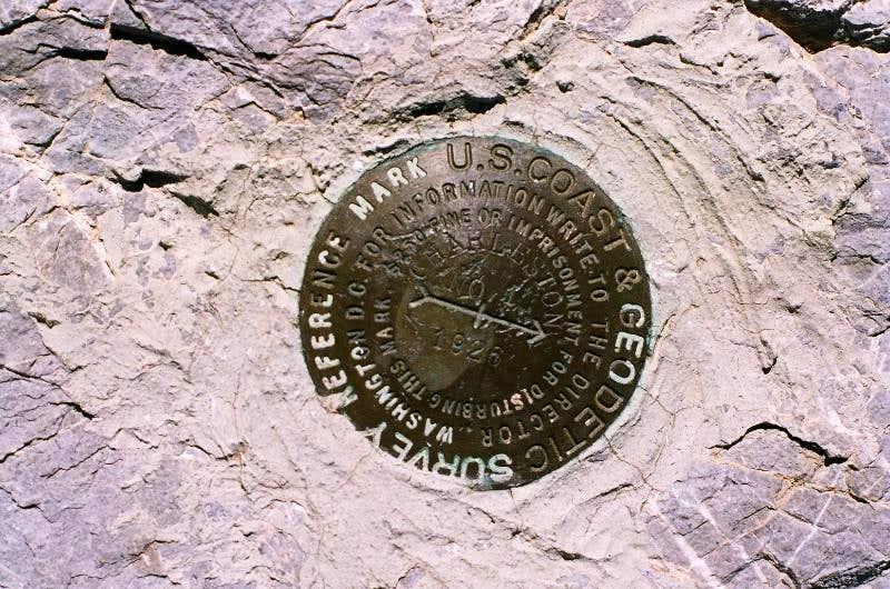 Mt Charleston survey marker