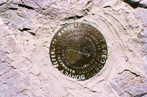 Mt Charleston survey marker