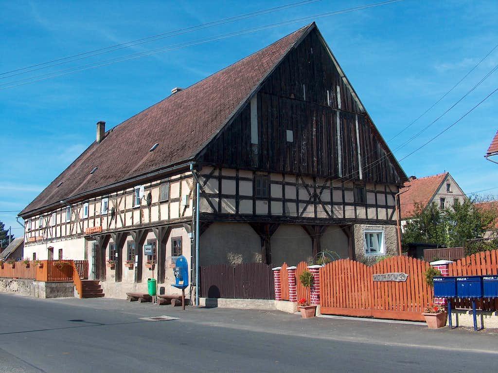 Wojanów's old inn, in Rudawy Janowickie