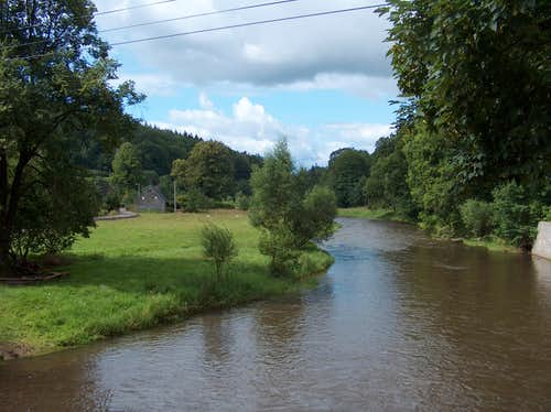 The Bóbr river in Rudawy Janowickie