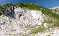 The second (larger) marble quarry