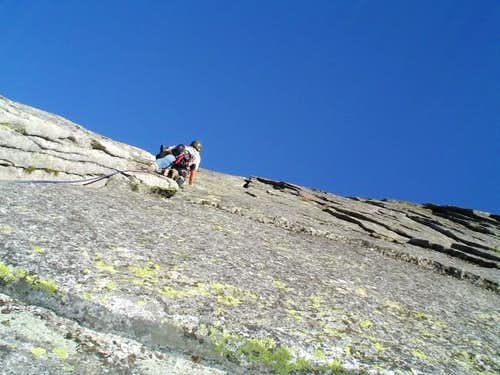 Fun climbing on the Knapsack...